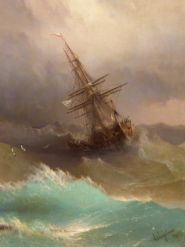 iwan-ajwazowski-statek-podczas-sztormu--372
