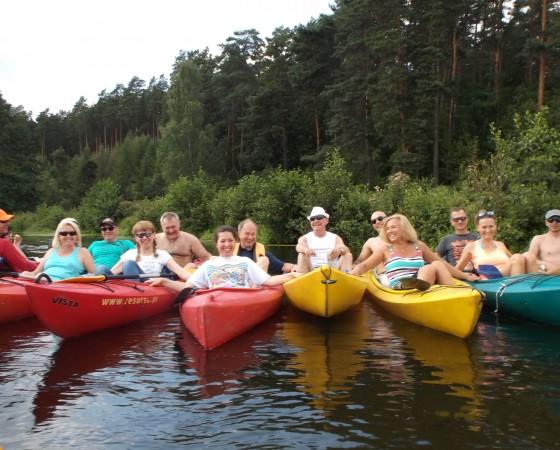 Spotkanie żeglarskie na rzece Wda.  Ocypel – sierpień 2015.