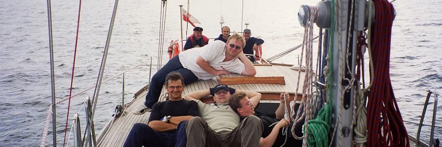S/Y Hetman – Kłajpeda wrzesień 2003 – początek budowy teamu.